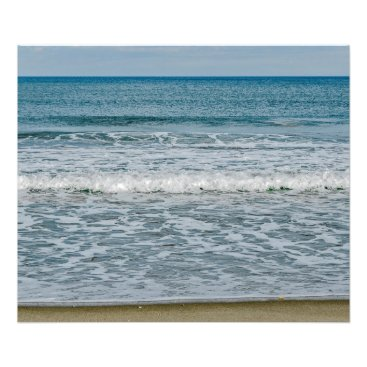 Art Themed Sunny Day at the Atlantic Ocean in Florida Photo Print