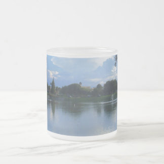 Sunny Day at the Park Frosted Glass Coffee Mug