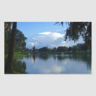 Sunny Day at the Park Rectangular Sticker