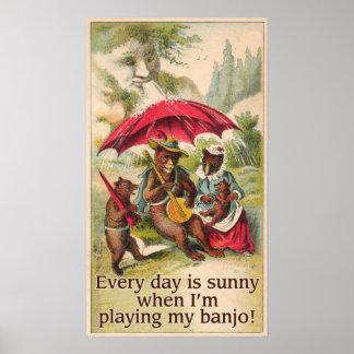 Sunny Day Bear Poster