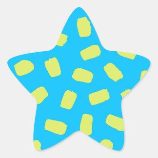 Sunny Day Brushstrokes Star Sticker