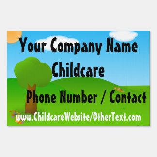 Sunny Day Custom Childcare Daycare Yard Sign