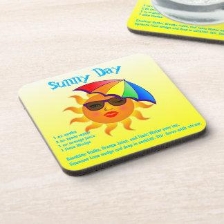 Sunny Day Drink Recipe Beverage Coaster