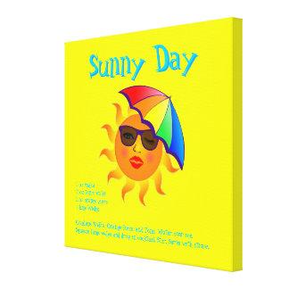 Sunny Day Drink Recipe Canvas Print