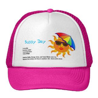 Sunny Day Drink Recipe Trucker Hats