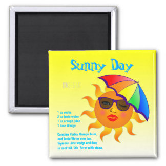 Sunny Day Drink Recipe Magnet