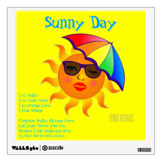Sunny Day Drink Recipe Room Decal