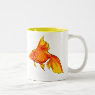 Sunny Day Fish Two-Tone Coffee Mug