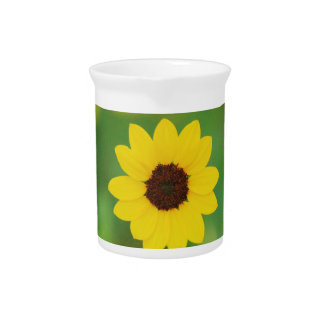 sunny day flower beverage pitcher