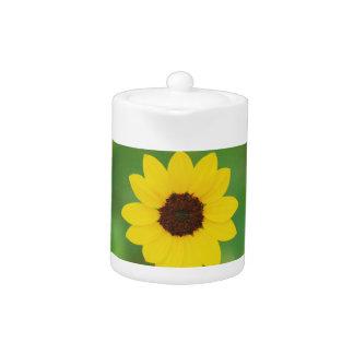 sunny day flower teapot