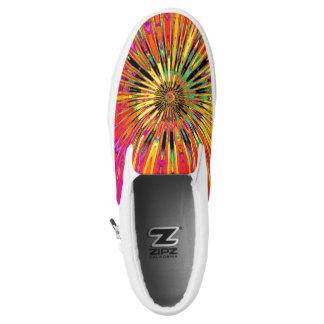 Sunny Day Fractal Slip-On Sneakers