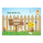 Sunny Day Garden Party 5x7 Paper Invitation Card