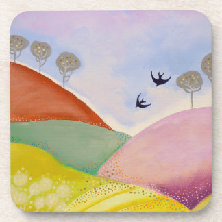 Sunny Day in the Country. Drink Coaster