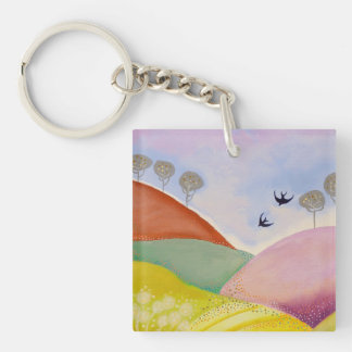 Sunny Day in the Country. Keychain