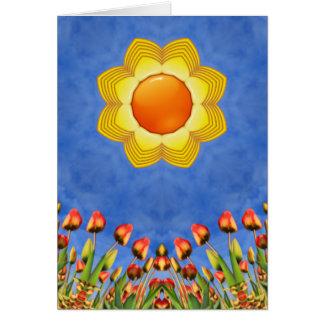 Sunny Day Kaleidoscope  Custom Greeting Cards