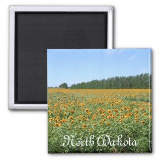 Sunny Day, North Dakota 2 Inch Square Magnet