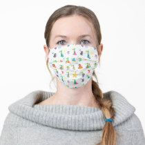 Sunny Day Sesame Street Pattern Adult Cloth Face Mask