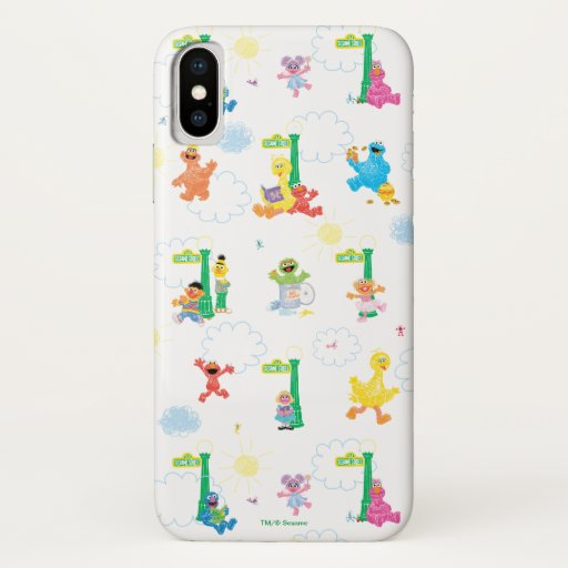 Sunny Day Sesame Street Pattern iPhone X Case