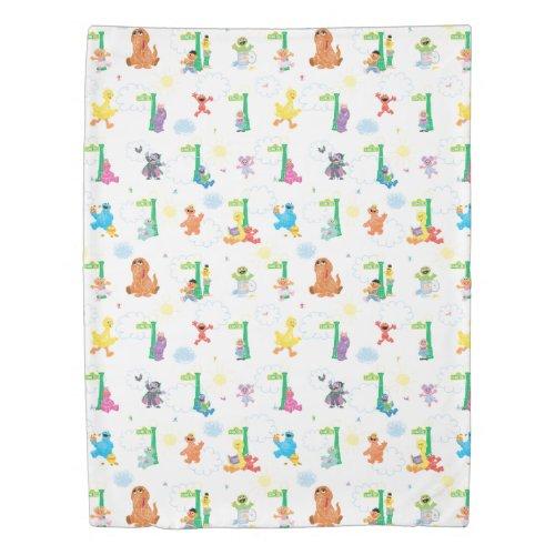 Sunny Day Sesame Street Pattern Duvet Cover