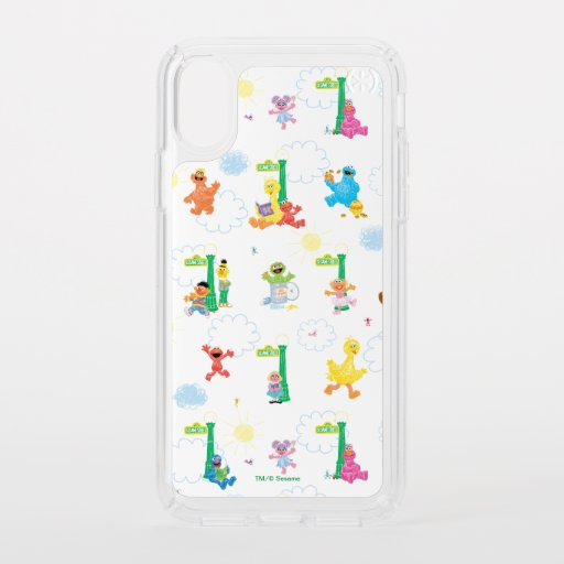 Sunny Day Sesame Street Pattern Speck iPhone X Case