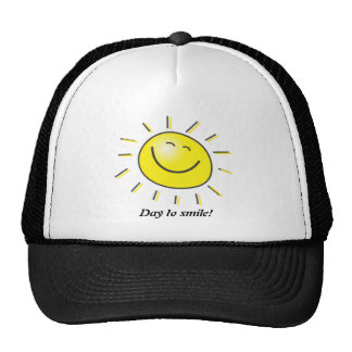 Sunny day, smiling sun, Day to smile! Mesh Hat