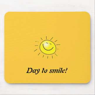 Sunny day, smiling sun, Day to smile! Mouse Pad