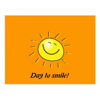 Sunny day, smiling sun, Day to smile! Postcard
