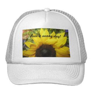Sunny Day Sunflower Mesh Hat