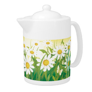 Sunny Day, Sunflowers and Flowers Teapot