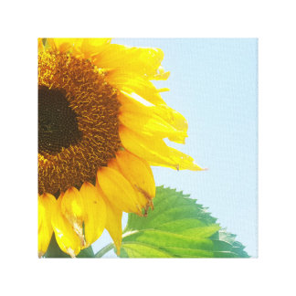 Sunny Day Yellow Sunflower Flower Floral Canvas