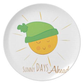 Sunny Days Ahead Dinner Plates