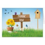 Sunny Days Garden Party Thank You Cards