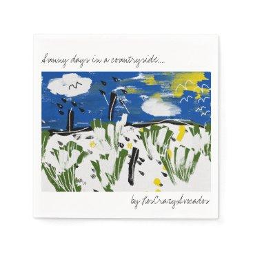 loscrazyavocados Sunny days in a countryside Art Paper Napkin