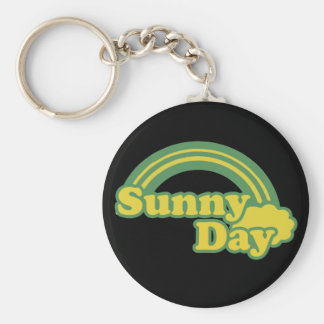 Sunny Days retro 80s cartoon Basic Round Button Keychain