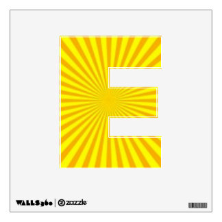 Sunny Days Wall Decal Alphabet E Small