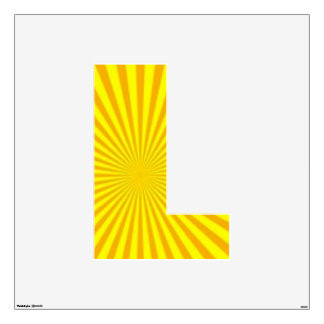 Sunny Days Wall Decal Alphabet L large