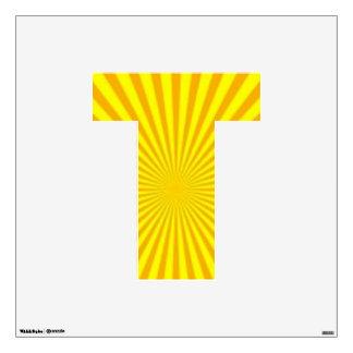 Sunny Days Wall Decal Alphabet T Medium