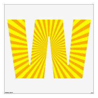 Sunny Days Wall Decal Alphabet W Large