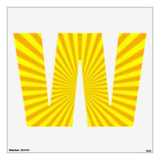 Sunny Days Wall Decal Alphabet W Medium