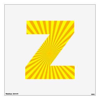 Sunny Days Wall Decal Alphabet Z medium