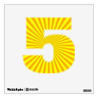 Sunny Days Wall Decal Number Five-Small