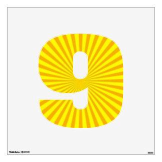 Sunny Days Wall Decal Number Nine-Medium