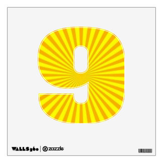 Sunny Days Wall Decal Number Nine-Small