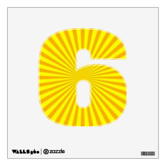 Sunny Days Wall Decal Number Six-Small
