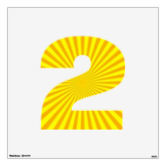 Sunny Days Wall Decal Number Two-Medium