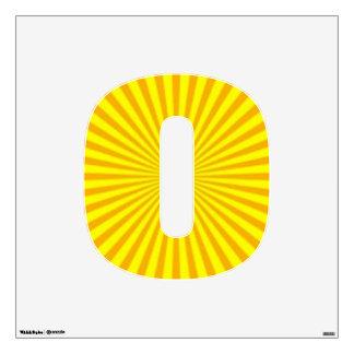 Sunny Days Wall Decal Number Zero-Medium