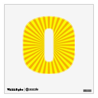 Sunny Days Wall Decal Number Zero-Small