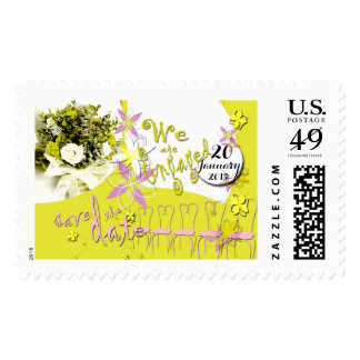 Sunny Days Wedding Save the Date Postage