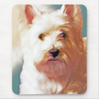 SUNNY DAYS WESTIE MOUSE PAD