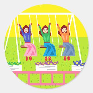 Sunny Dayz Classic Round Sticker
